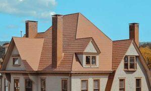 an orange roof